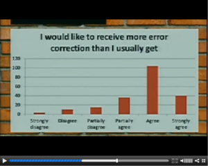 Screen shot of Chris Simth's slide. More error correction.