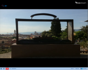 Screenshot of Freeman's slide. Sculpture in Florence, Italy